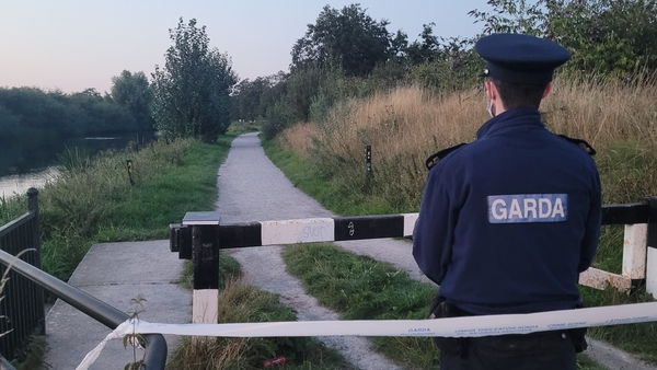 Area on the Barrow Track in Carlow town was sealed off (Pic: EmergencyTimes.ie)