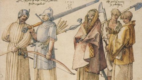 Albrecht Dürer's Irish Soldiers and Peasants (1521). Image: bpk / Kupferstichkabinett, SMB / Jörg P. Anders
