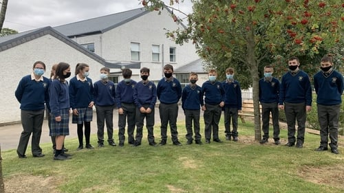Seven sets of twins started at Coláiste Bhríde in Carnew today