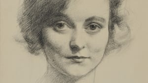 Drawing of Ethna MacCarthy (1931) by Seamus O Sullivan, photographed by Stephen Whitehorne