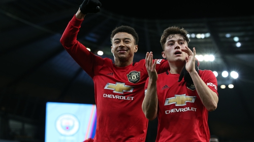 Jesse Lingard (L) and Daniel James could both be leaving Manchester United tomorrow