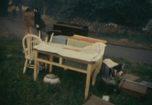 One families possessions removed from their home on Howth Head (1976)