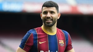 Sergio Aguero is currently recovering form a calf injury