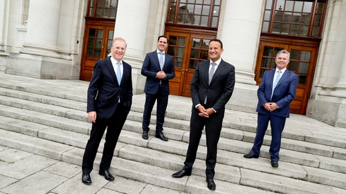 Tadhg Young, Country Head of State Street Ireland, Martin Shanahan, CEO of IDA Ireland, Leo Varadkar, Tánaiste and Minister for Enterprise, Trade and Employment, and Sean Fleming, Minister of State Department of Finance