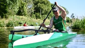 Patrick O'Leary during a training session at Celbridge Paddlers in Co Kildare.
