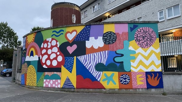 The mural was designed by young people who attend SWAN Youth Services