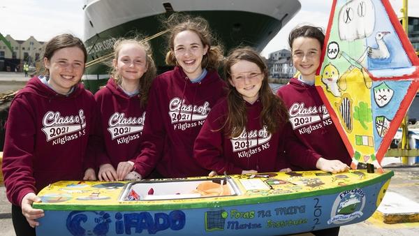 Sophie Kelly, Rosie Dolan, Ruby Glynn, Naomi Faulkner, Olivia Cotton from Kilglass NS in Co Galway