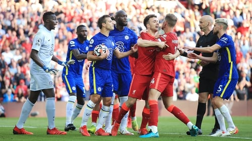 Reece James' red card and the subsequent penalty scored by Mo Salah sparked a melee