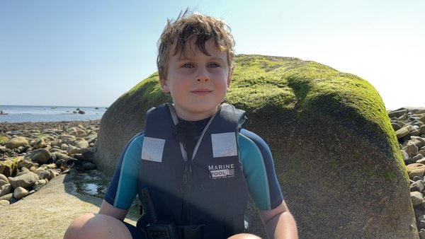 Shem Berry spent his summer holidays helping his dad and other Coastwatch volunteers with a seagrass restoration project in Co Wexford