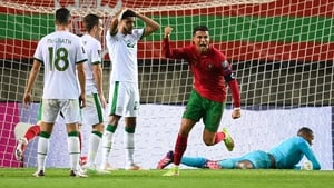 Cristiano Ronaldo broke Irish hearts with a late brace