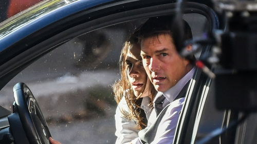 Tom Cruise and Hayley Atwell filming Mission: Impossible 7 in Rome in October 2020