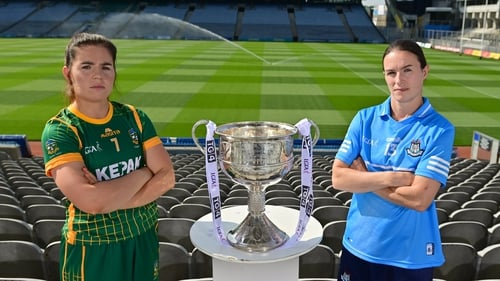 Meath captain Shauna Ennis, left, and Dublin captain Sinead Ahern will be both hoping to lift the Brendan Martin Cup