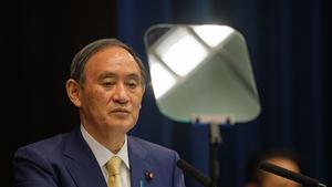 Yoshihide Suga has seen his public support drop