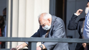 Theodore McCarrick leaves the courthouse after entering his not guilty plea