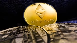 The token, linked to the ethereum blockchain, was up 5.02% to $3,976.57