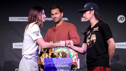 Katie Taylor, left, and Jennifer Han face-off tonight
