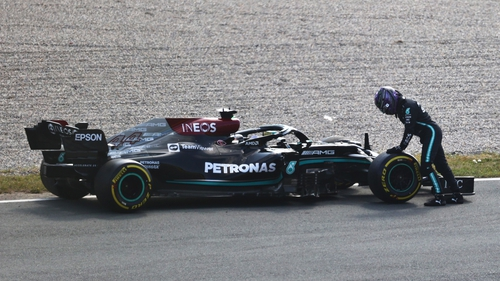 Lewis Hamilton's car broke down in practice