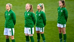 Ireland internationals such as Amber Barrett (second from left) are ready to return to league action with their clubs