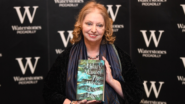 Hilary Mantel signs copies of her book The Mirror And The Light