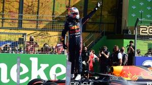 Max Verstappen salutes the crowd at Circuit Zandvoort