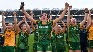 Meath's players enjoying the county's first senior All-Ireland