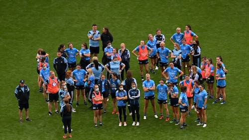 Dublin's squad after today's defeat