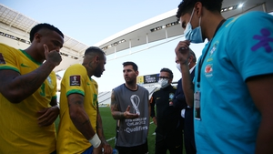 Argentina's clash with Brazil was abandoned early on