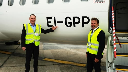 Conor McCarthy CEO of Emerald Airlines and Aviation Regulator of the IAA Mr Diarmuid O Conghaile