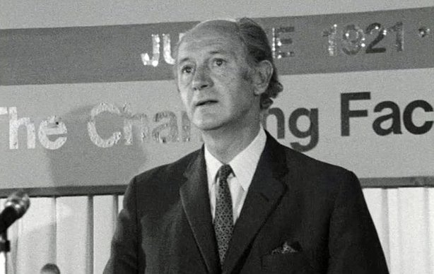 Jack Lynch speaking at the opening of the PEN Conference in Dublin (1971)