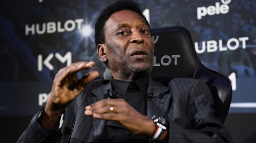 """Pele: """"Luckily, I am used to celebrating big victories with you."""""""
