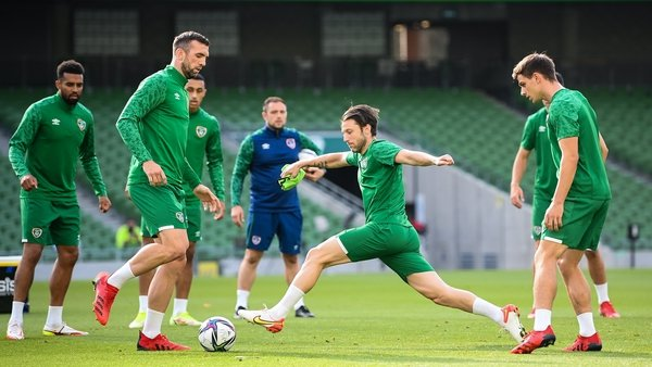 Ireland training at the stadium ahead of the game