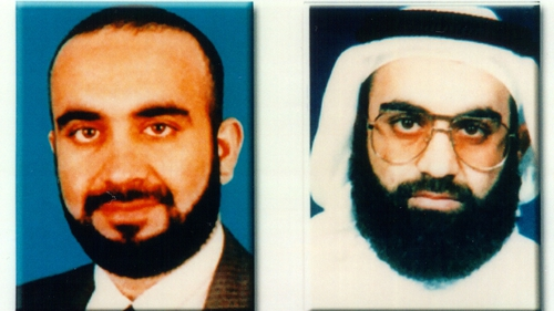 An FBI image released by the FBI of Khalid Sheikh Mohammed in 2001 before he was arrested