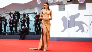 From delicately draped Balmain to disco-inspired Alaia, the fashionable star has been proving her style credentials.