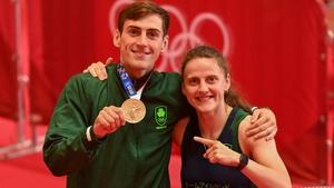 Aidan and Michaela Walsh after he won bronze in Tokyo