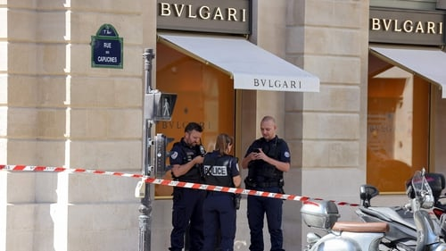 Thieves targeted the Italian luxury brand Bulgari in the French capital