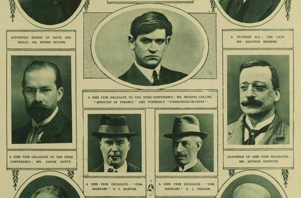 Century Ireland Issue 213 - The Irish delegates Photo: Illustrated London News, 7 October 1921