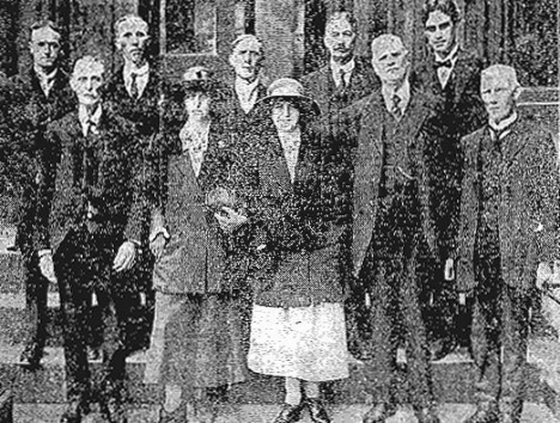 The deputation from Derry Photo: Freeman's Journal, 21 September 1921