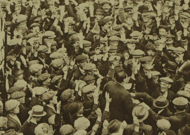Century Ireland Issue 213 - An unemployed rally in Shoreditch, London Photo: Illustrated London News [London, England], 10 September 1921