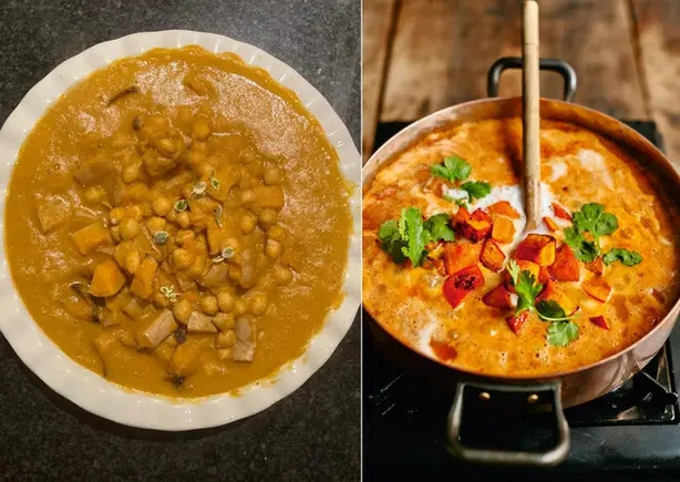 Noreen's version (L) and Jamie Oliver's (Noreen Barr/David Loftus/PA)