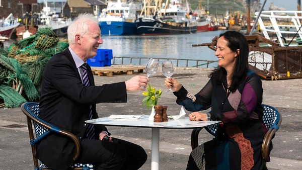 CEO of Fáilte Ireland Paul Kelly with Tourism Minister Catherine Martin in Howth, Dublin