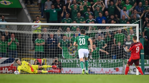 Bailey Peacock-Farrell rescued a draw for Northern Ireland against Switzerland