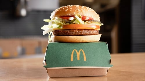 The new burger includes a plant-based patty, vegan cheese and a vegan sauce