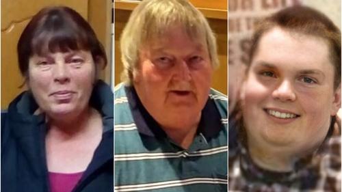 The bodies of 56-year-old Eileen O'Sullivan, her 63-year-old partner Mossie O'Sullivan, and their 24-year old son Jamie were found on Tuesday