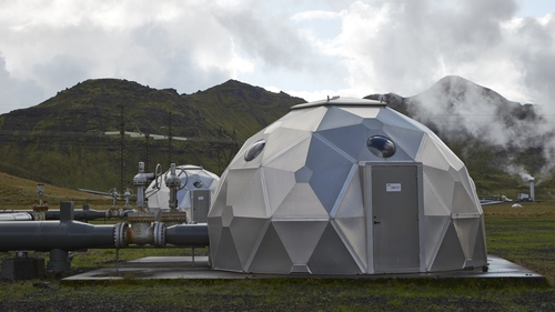 The pods contain technology for storing carbon dioxide underground
