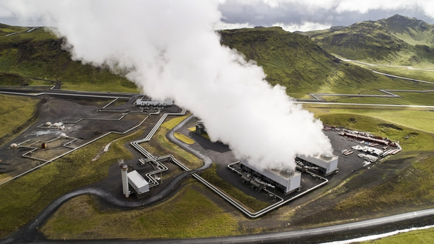 Hellisheidi geothermal power plant Iceland