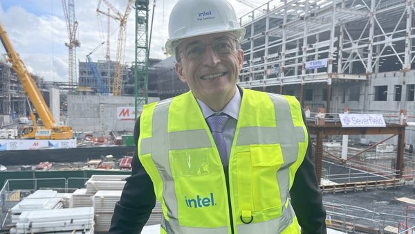 Intel chief executive Pat Gelsinger on a recent visit to the company's new plant in Co Kildare