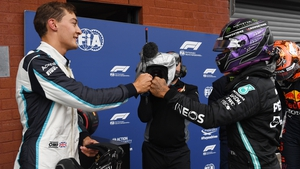 George Russell currently lies 15th in the drivers standings, with world champion Lewis Hamilton second