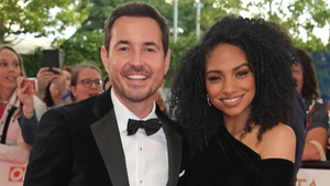 Martin Compston and his wife Tianna Chanel Flynn at the 2021 National Television Awards