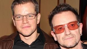 "Bono jokes that he's ""very annoyed"" that friend Matt Damon is ""the king of Dalkey"""