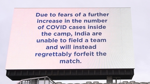 The big screens at Old Trafford relayed the bad news